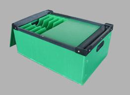 带刀卡中空板周转箱